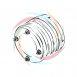 4 Way Slip Ring w/ 80mm Dia Rings
